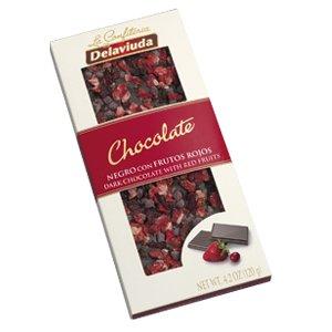Chocolate negro con frutos rojos Delaviuda